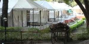 Swiss Cottage Tents with verandah walls