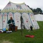 oval medieval tents