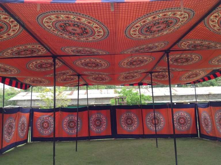 Indian shamiyana tent, indian party tent, shaiyana kanat